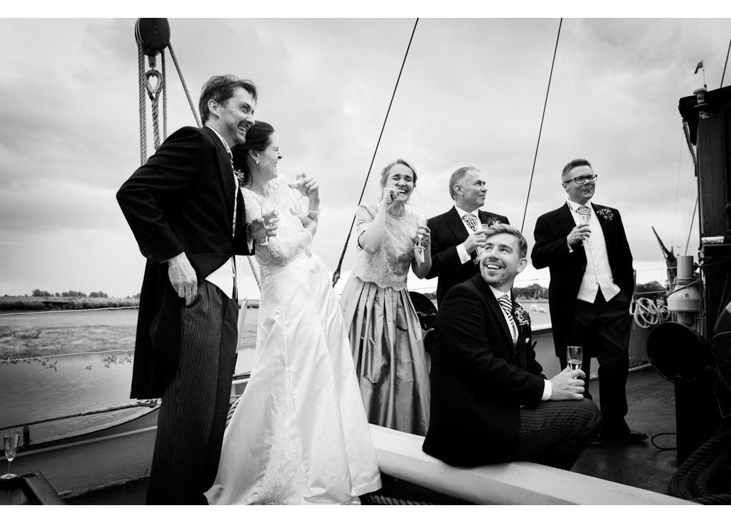 Essex wedding photographer Eyeshine Photography photographs photos photographers Hydrogen Thames sailing barge Maldon favourite wedding images
