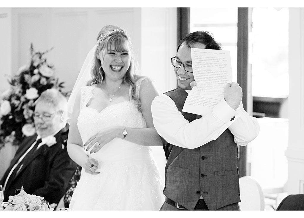 Rayleigh Wedding photo photos photographer Rayleigh Essex wedding reception photography eyeshine bride groom couple married speeches