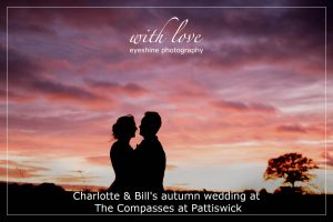 Charlotte & Bill's autumn wedding at The Compasses at Pattiswick.