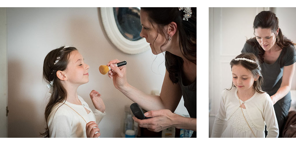 flower girl preparations photo