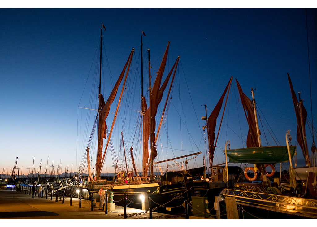 Thames Barges at twilight photo