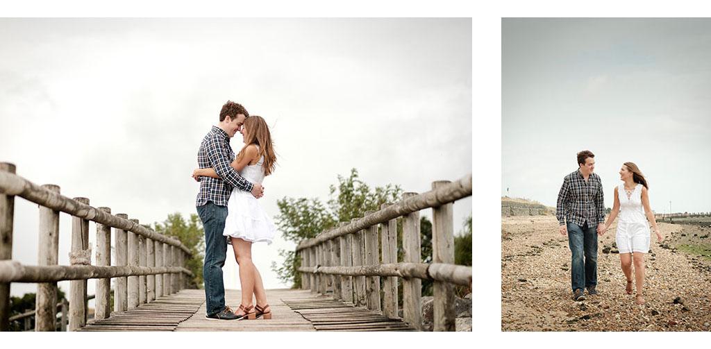 essex beach engagement shoot