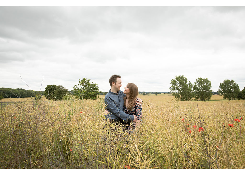 summer field engagement shoot