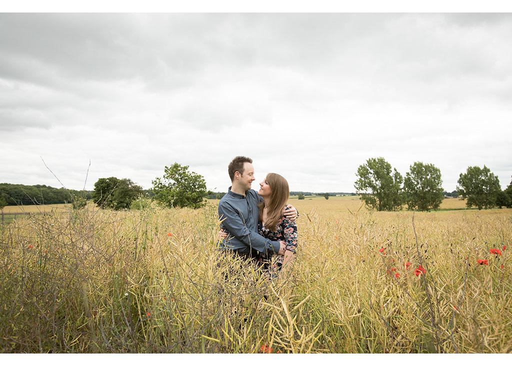 summer field engagement shoot