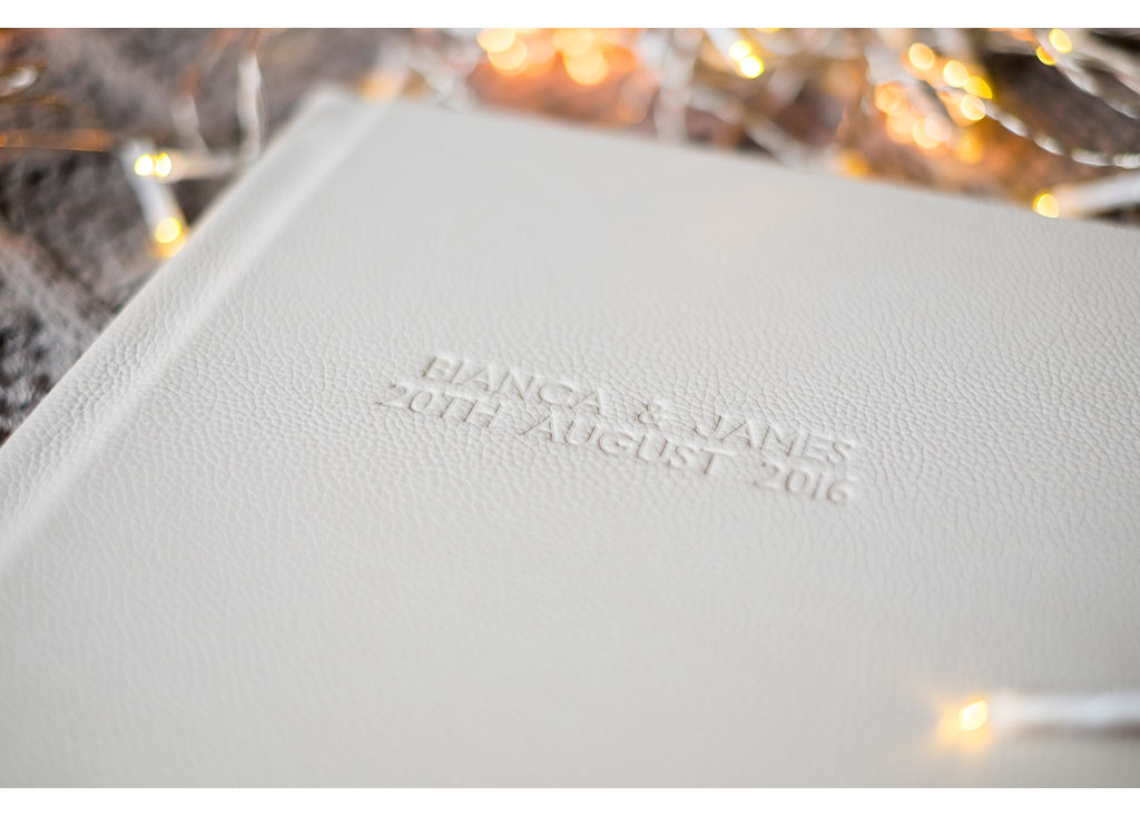 embossed cover wedding photo album