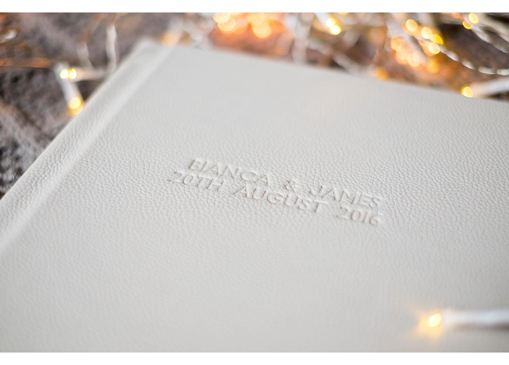 embossed cover wedding photo album