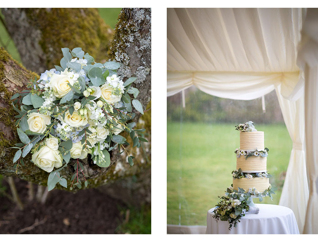 wedding flowers and cake photography