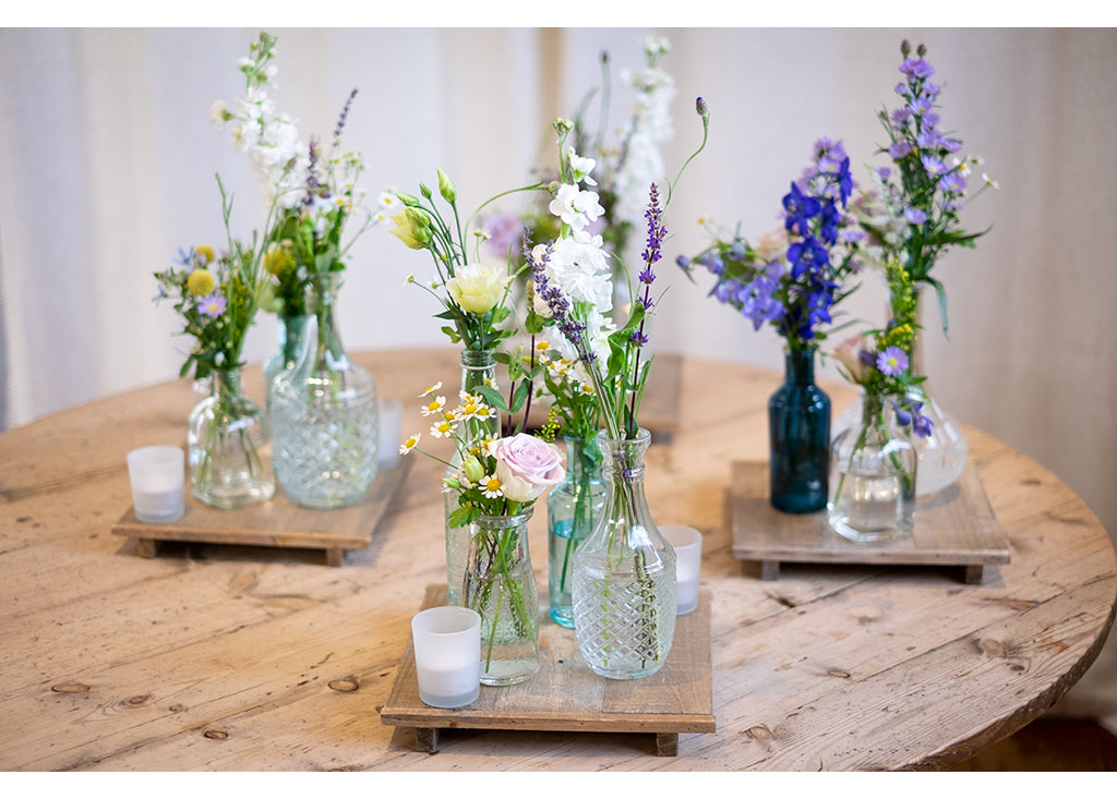 vintage glass flower decorations