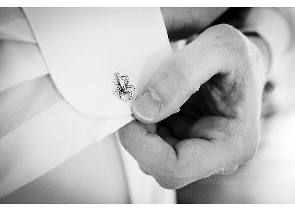 unusual wedding day cufflinks