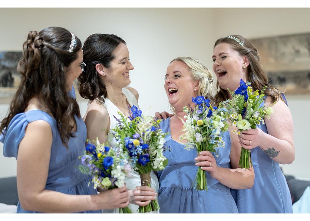 natural bridesmaids photography