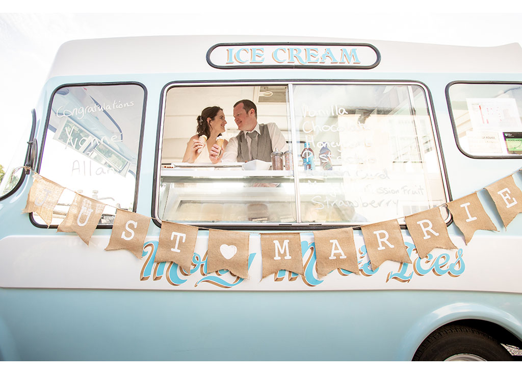 vintage ice cream wedding