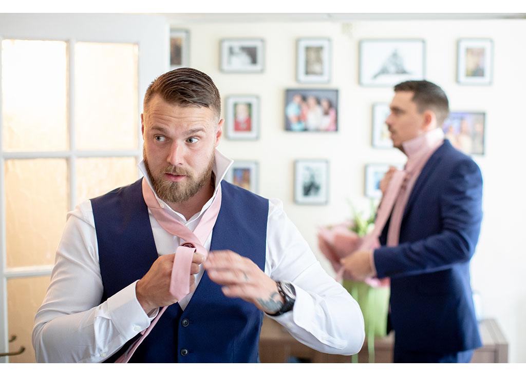 documentary groomsmen preparation