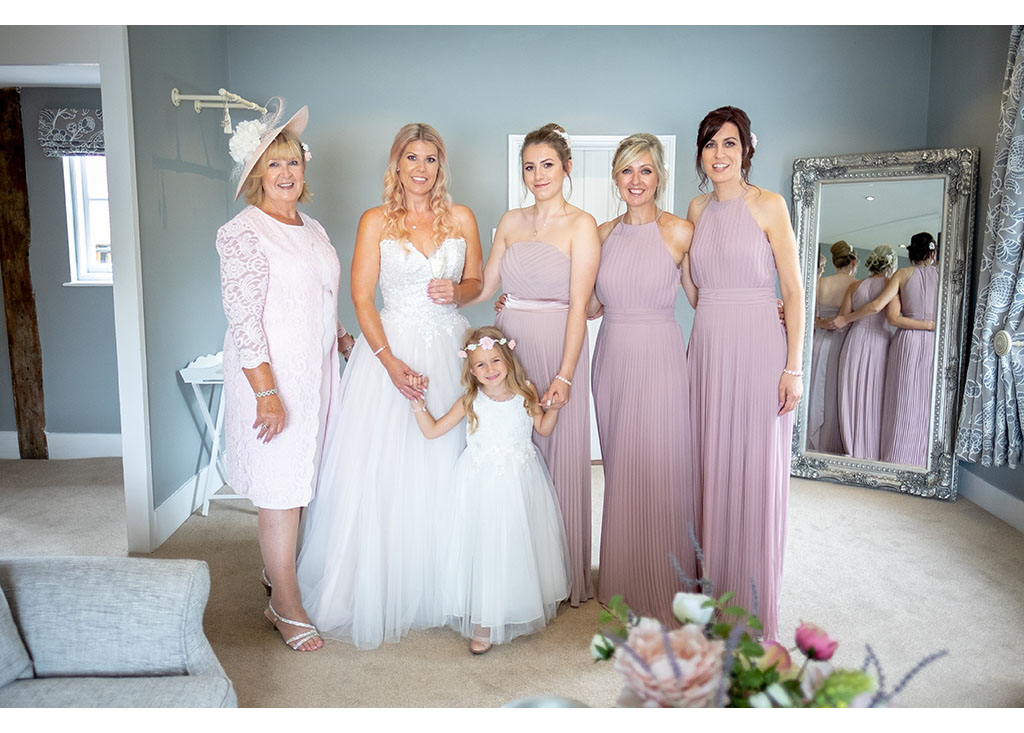 bridal party photograph