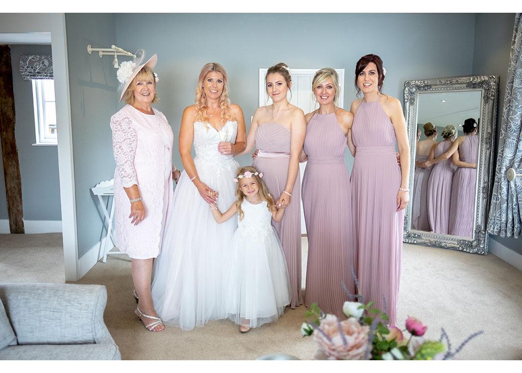 bridal party photograph