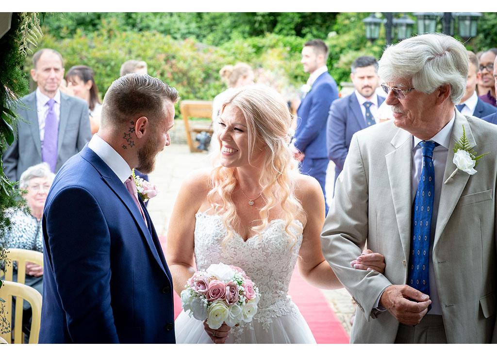 newland hall outdoor wedding ceremony