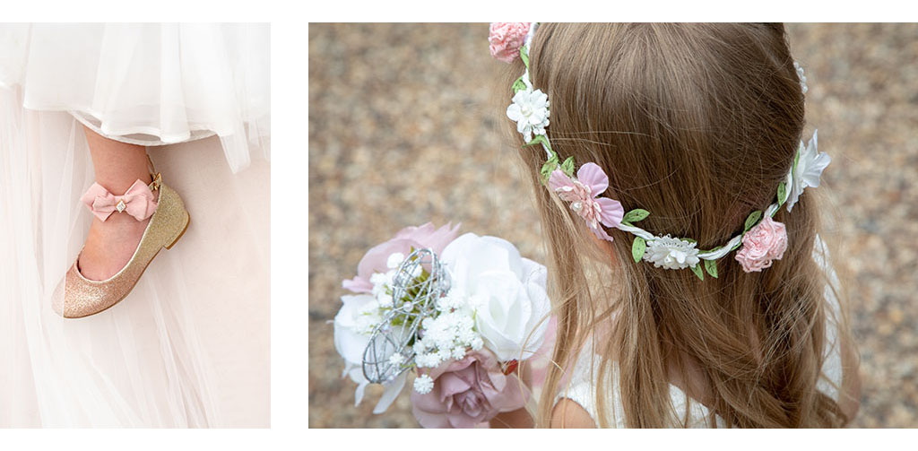 natural flower girl details