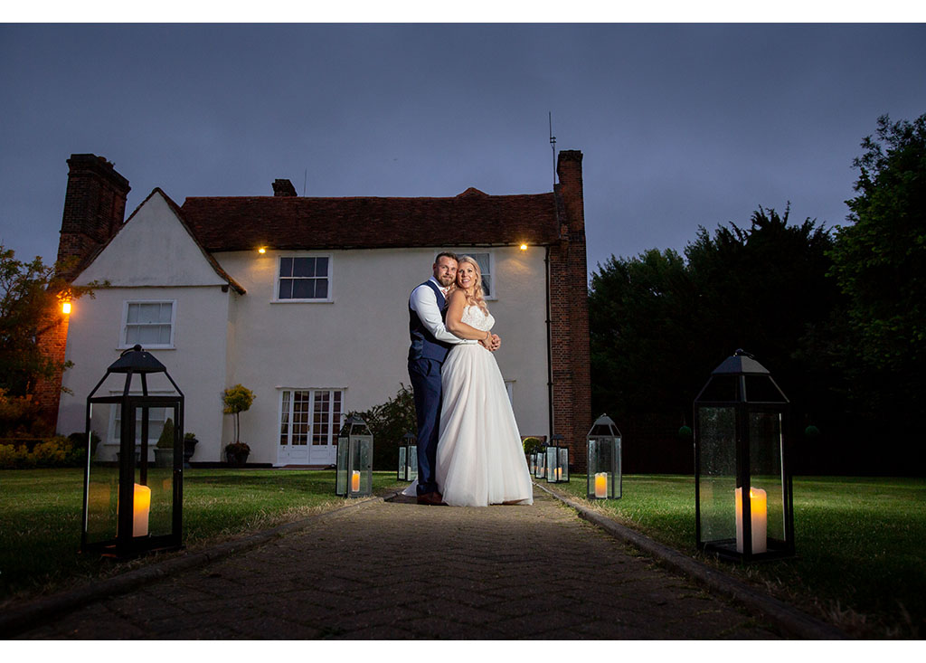 twilight wedding photograph