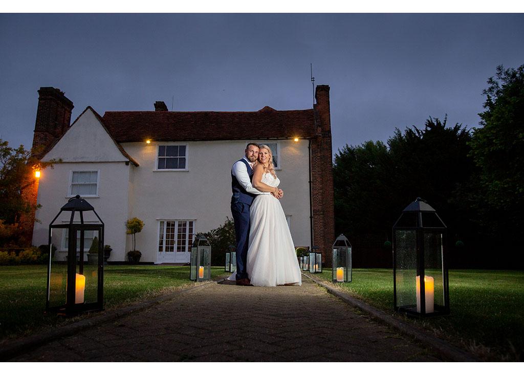 twilight wedding photograph