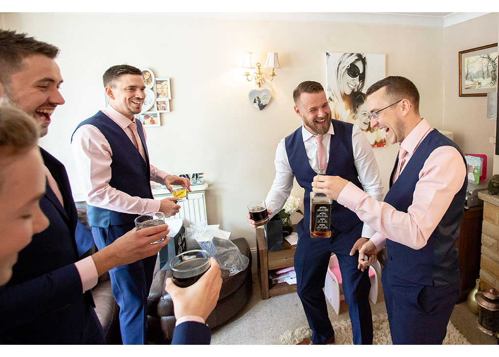 Groom wedding photography in Writtle Essex