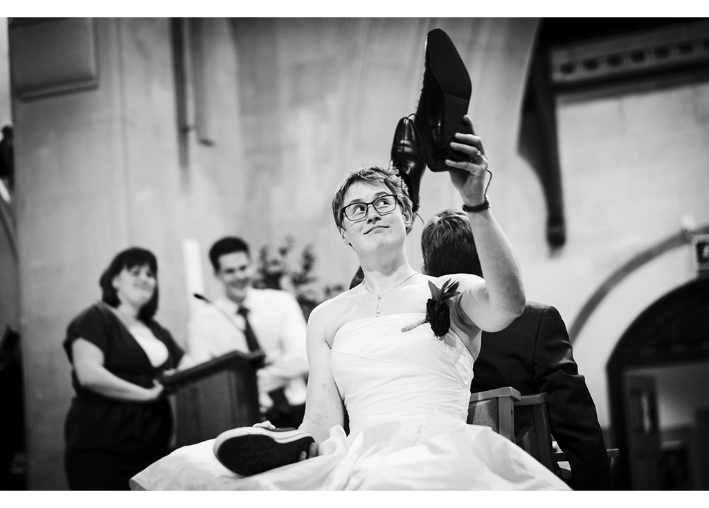 mr and mrs wedding game photograph