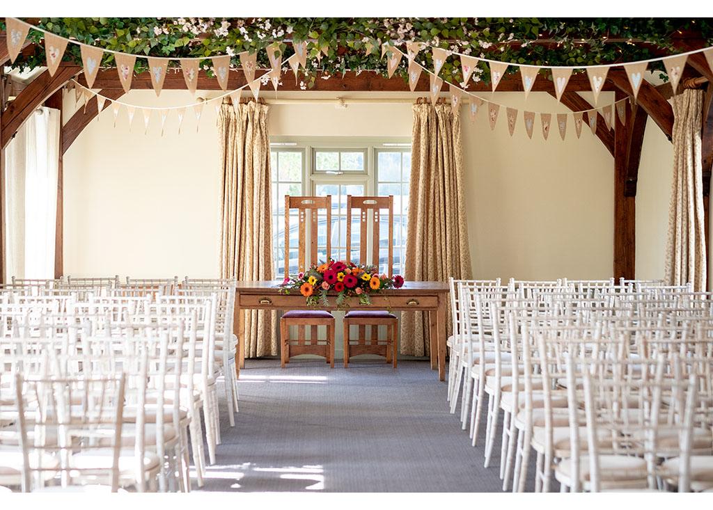 compasses at pattiswick wedding ceremony room