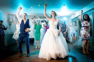flash mob style wedding first dance photograph