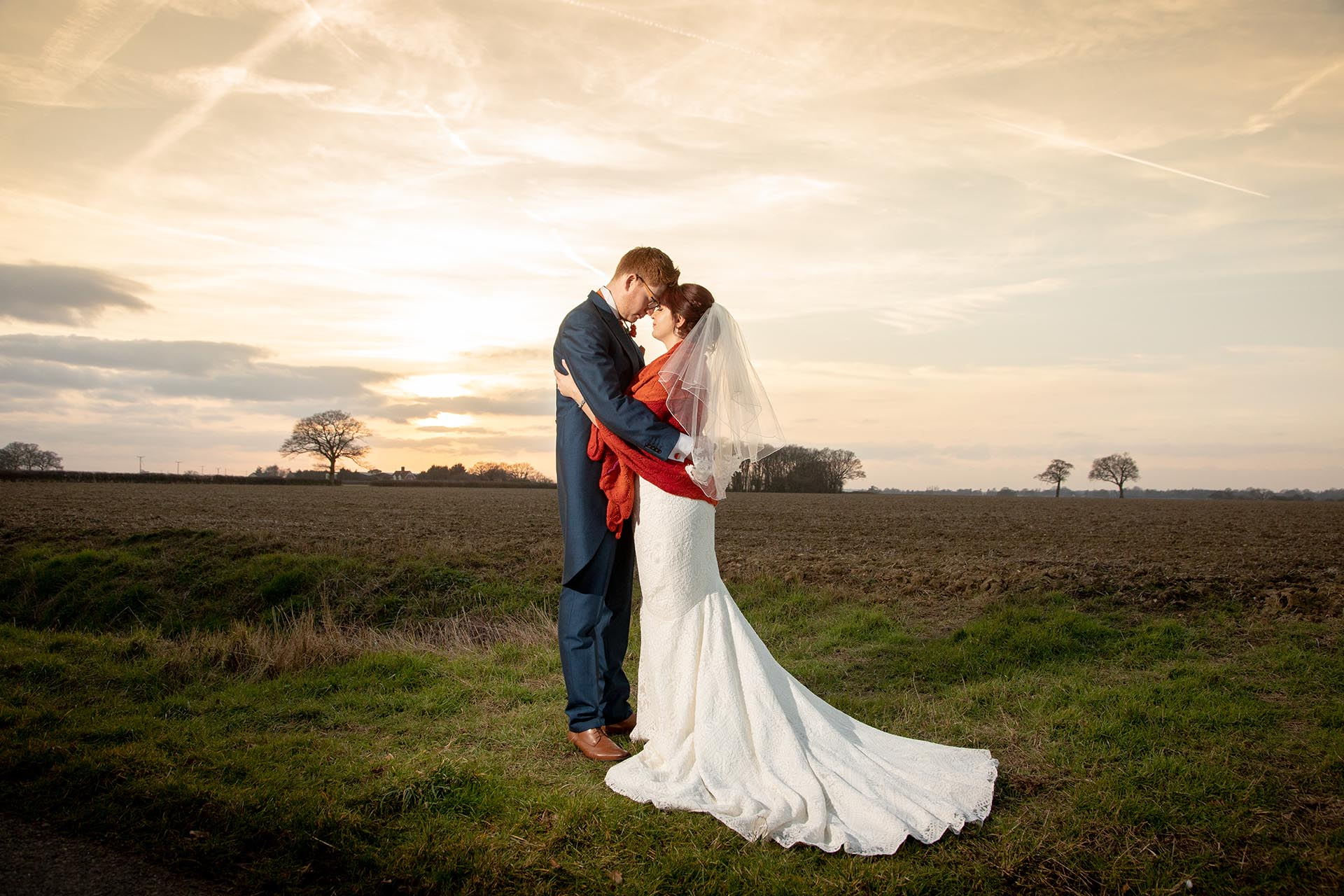 Romantic wedding couple at The Compasses at Pattiswick favourite five wedding photographs