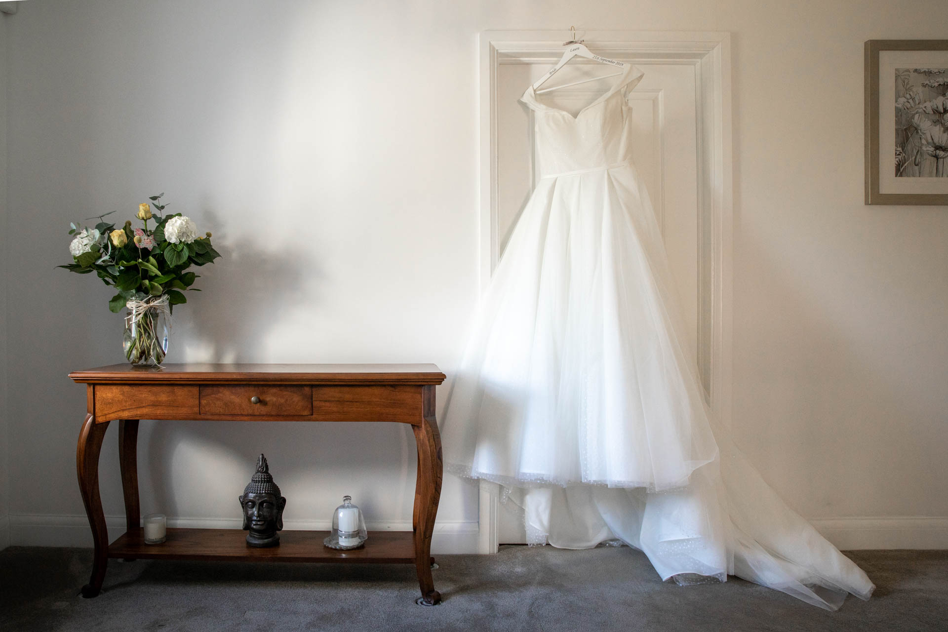 Wedding dress photograph Leigh-on-Sea Essex