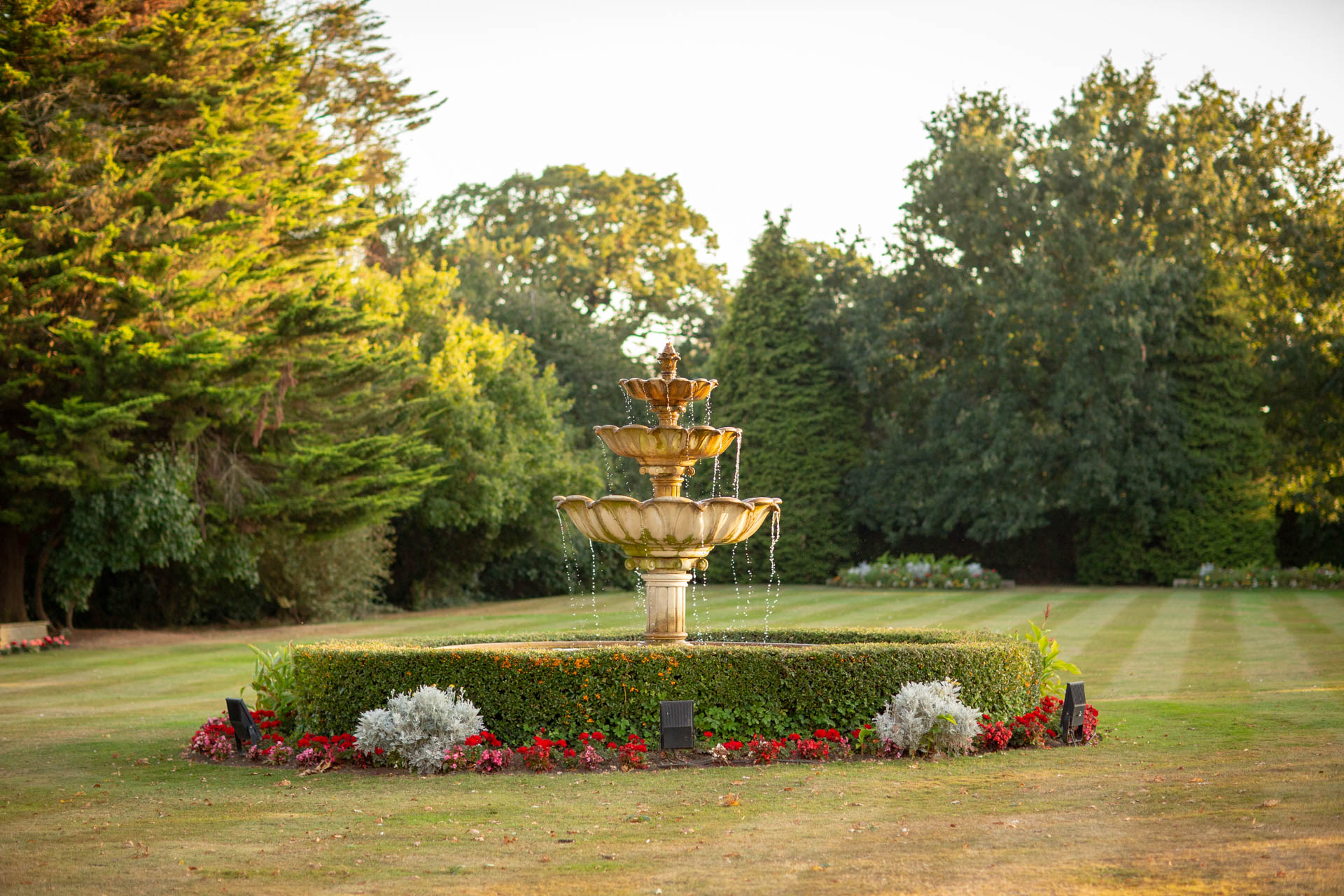 Garden fountain at The Lawn Rochford Essex