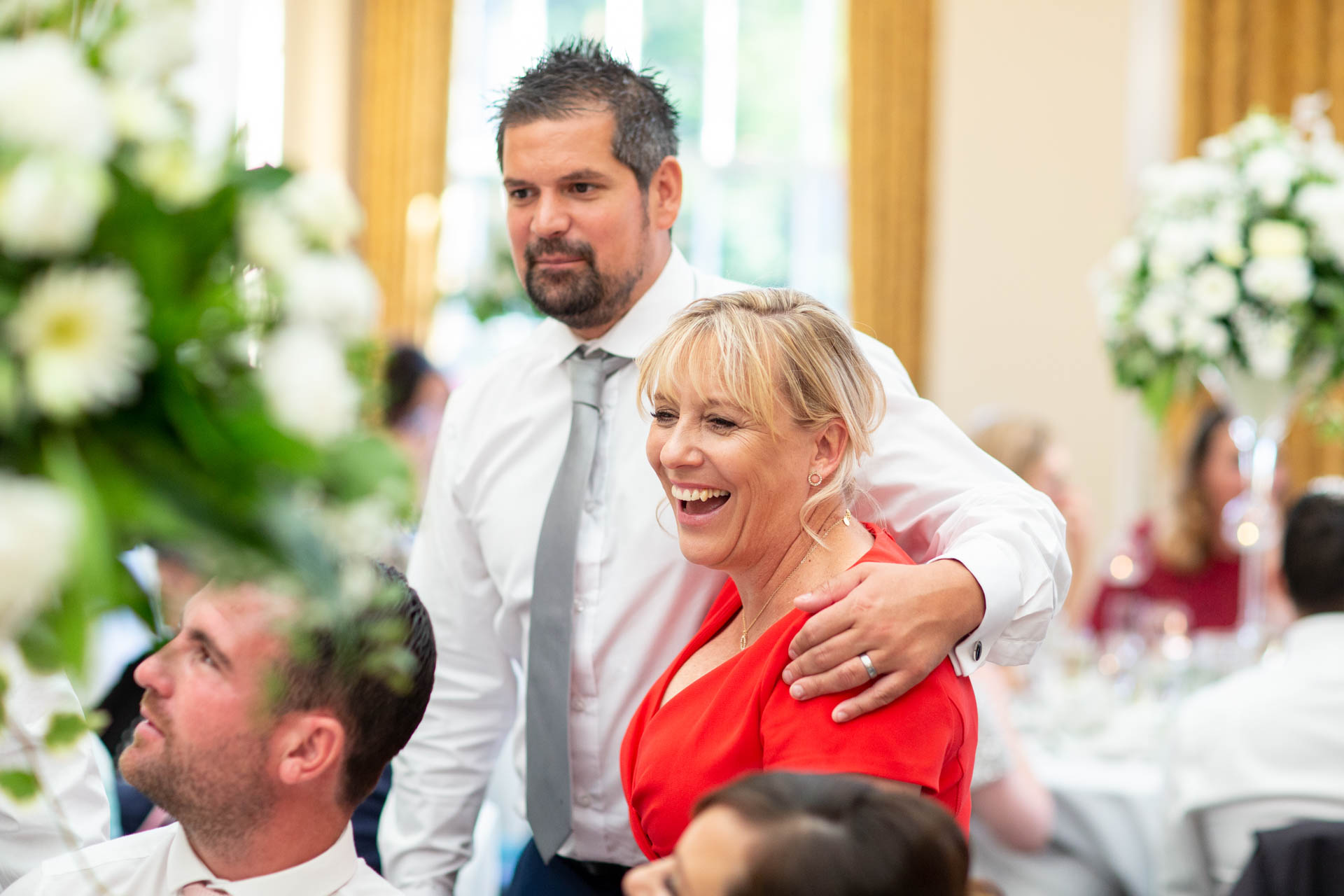 Wedding reception reportage photograph at The Lawn orangery Rochford Essex