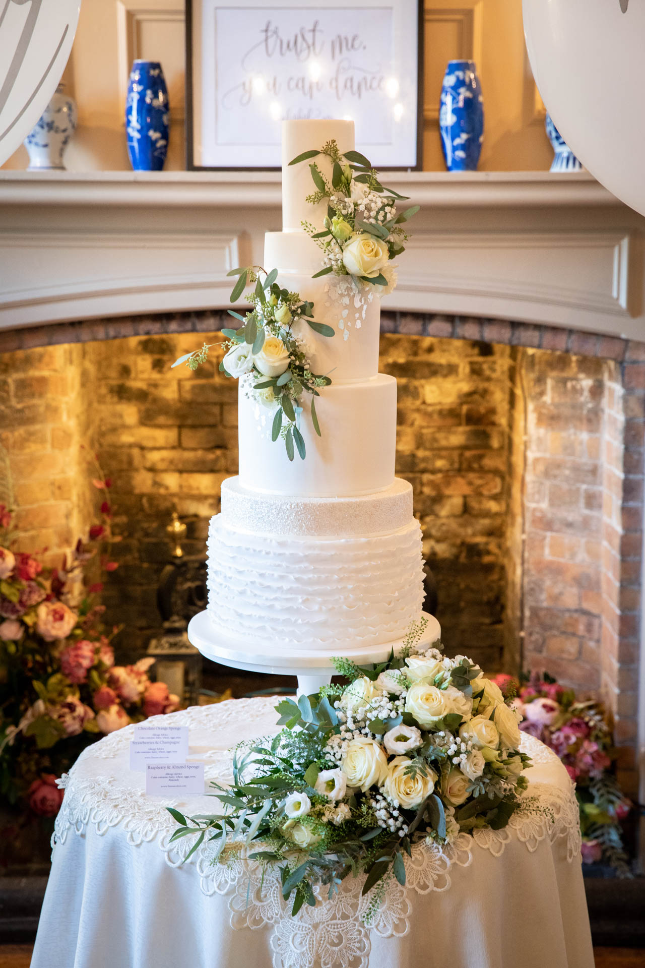 Wedding cake at The Lawn Rochford Essex